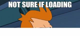Not sure if loading or…