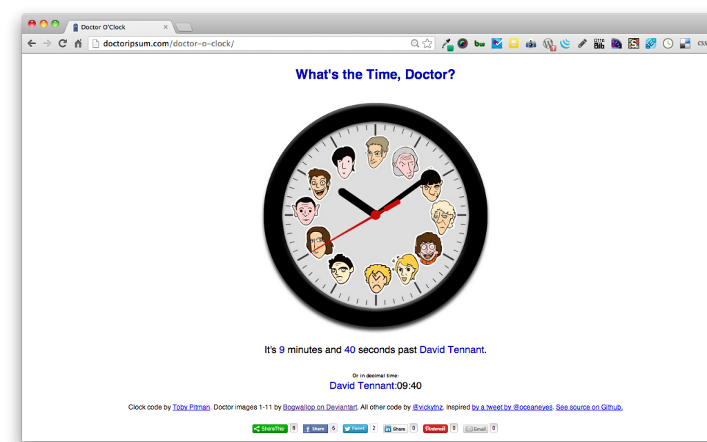 Doctor o Clock (10 past Tennant)
